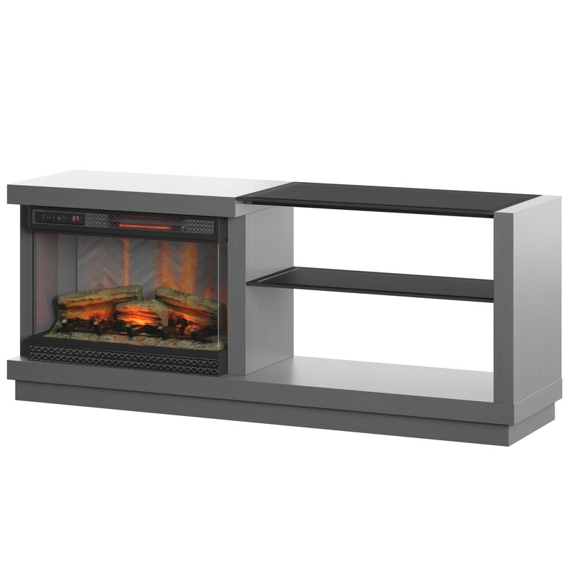 """Orren Ellis Ladores Tv Stand For Tvs Up To 65"""" With For Rickard Tv Stands For Tvs Up To 65"""" With Fireplace Included (View 17 of 20)"""