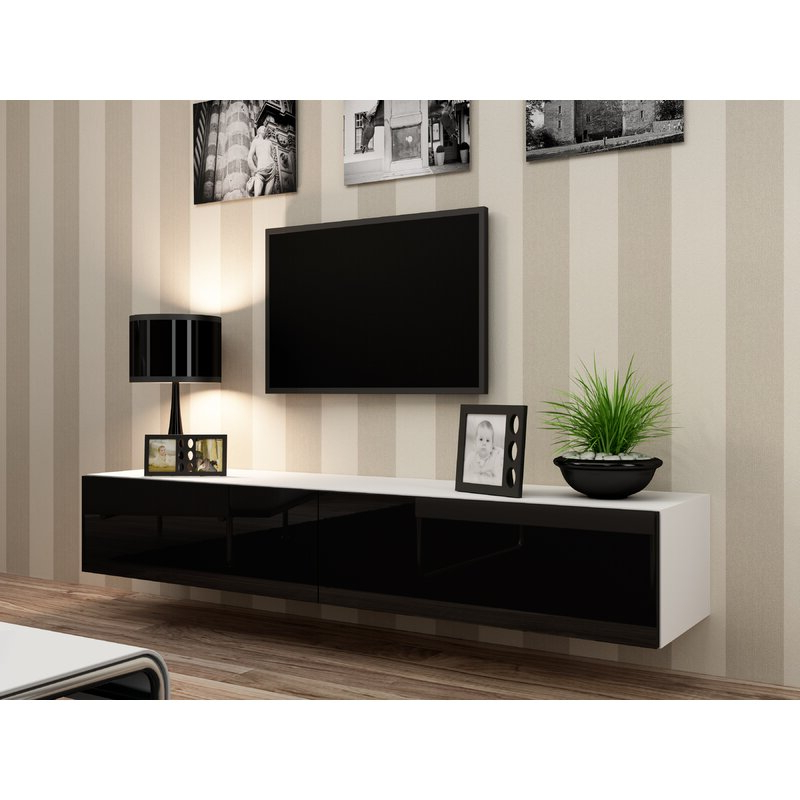 """Orren Ellis Lesterny Floating Tv Stand For Tvs Up To 75 In Chrissy Tv Stands For Tvs Up To 75"""" (View 16 of 20)"""