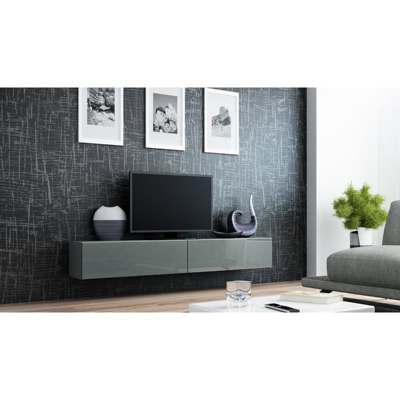 """Orren Ellis Lesterny Floating Tv Stand For Tvs Up To 88 With Regard To Gosnold Tv Stands For Tvs Up To 88"""" (View 13 of 20)"""