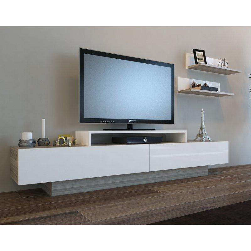 """Orren Ellis Pritts Tv Stand For Tvs Up To 78"""" & Reviews Intended For Jowers Tv Stands For Tvs Up To 65"""" (View 14 of 20)"""