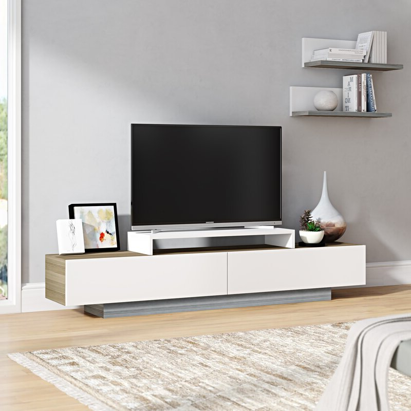 """Orren Ellis Pritts Tv Stand For Tvs Up To 78"""" & Reviews Intended For Tenley Tv Stands For Tvs Up To 78"""" (View 18 of 20)"""