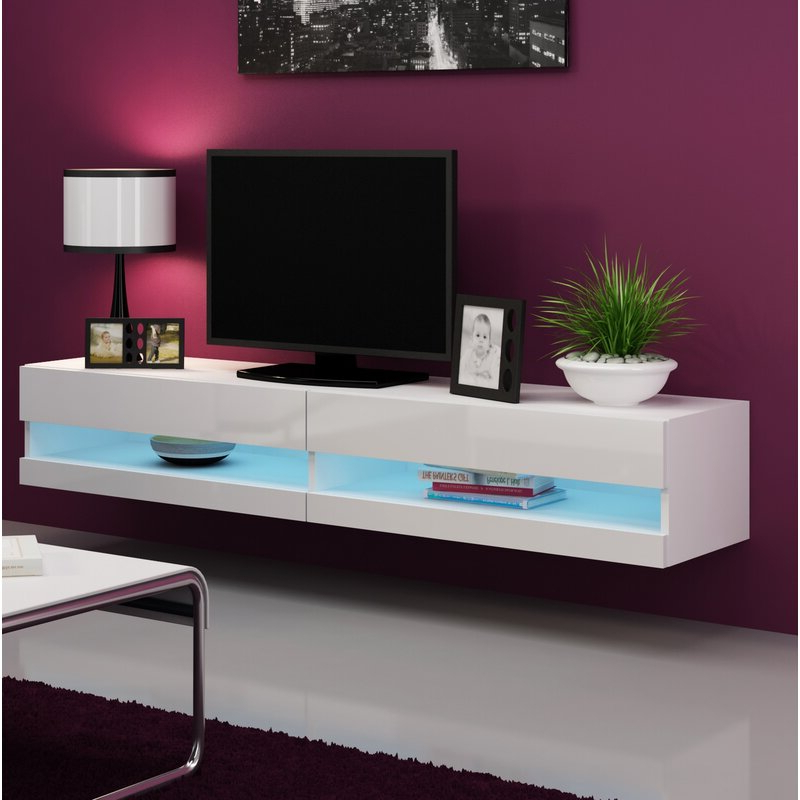 """Orren Ellis Ramsdell Floating Tv Stand For Tvs Up To 78 For Grandstaff Tv Stands For Tvs Up To 78"""" (View 15 of 20)"""