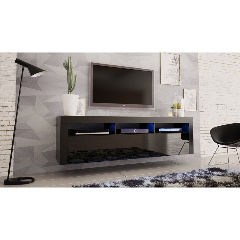 """Orren Ellis Vesperina Floating Tv Stand For Tvs Up To 70 Intended For Aaliyah Floating Tv Stands For Tvs Up To 50"""" (View 11 of 20)"""