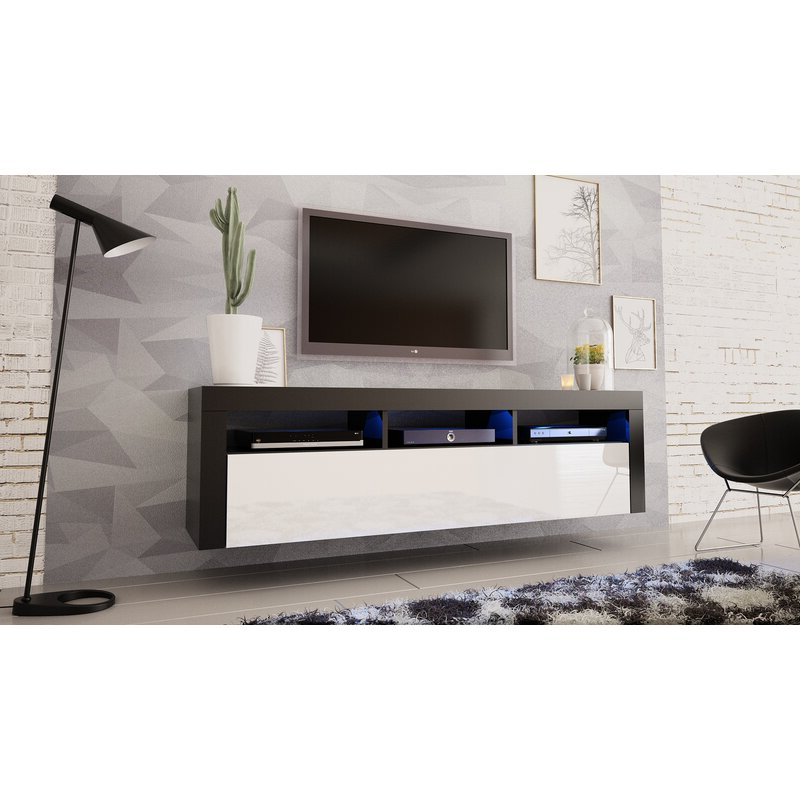 """Orren Ellis Vesperina Floating Tv Stand For Tvs Up To 70 Intended For Kinsella Tv Stands For Tvs Up To 70"""" (View 7 of 20)"""