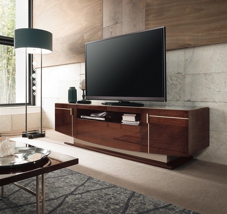 Osipis Contemporary Tv Stand Pertaining To High Glass Modern Entertainment Tv Stands For Living Room Bedroom (View 8 of 20)