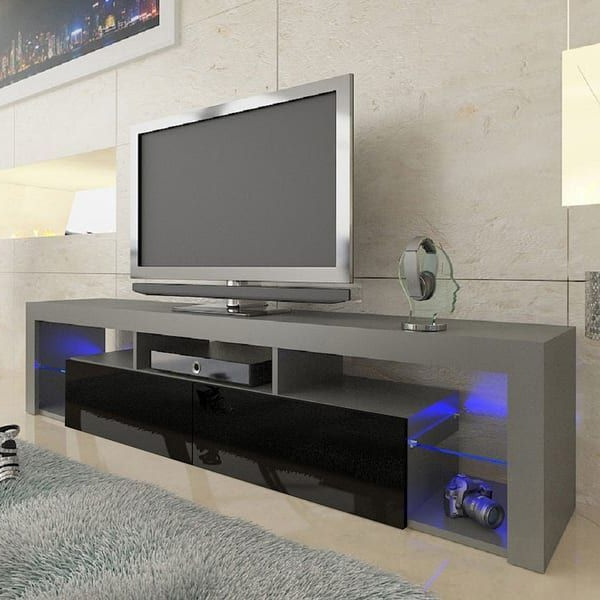 """Overstock: Online Shopping – Bedding, Furniture With Regard To Milano 200 Wall Mounted Floating Led 79"""" Tv Stands (View 2 of 20)"""