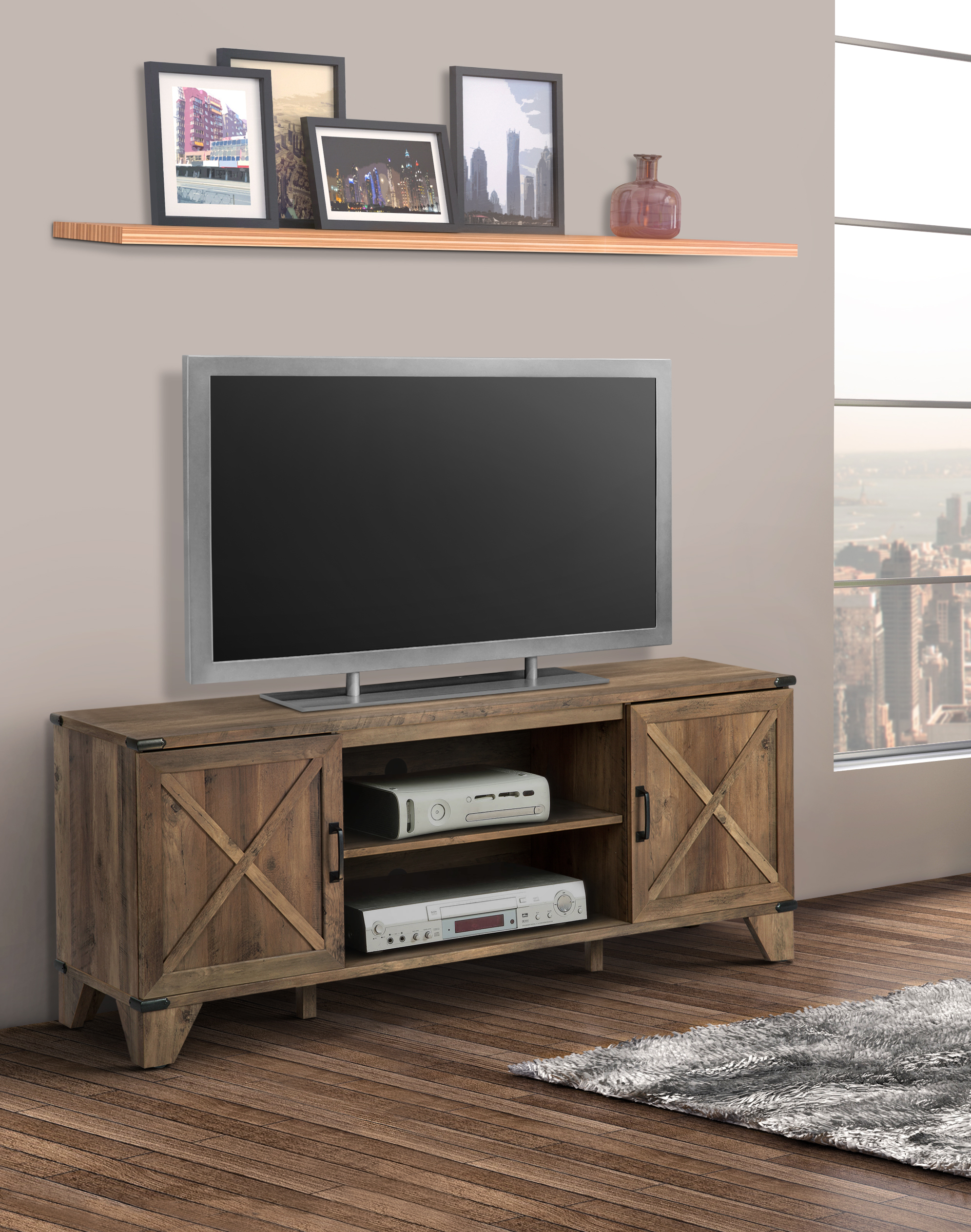 """Oxford 60"""" Wide Tv Stand – Walmart – Walmart Pertaining To Jackson Wide Tv Stands (View 4 of 20)"""