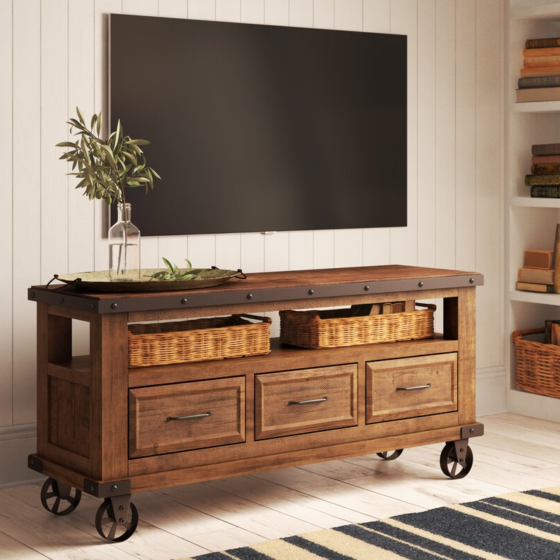 """Pablo Solid Wood Tv Stand For Tvs Up To 65 Inches & Reviews Within Millen Tv Stands For Tvs Up To 60"""" (View 12 of 20)"""