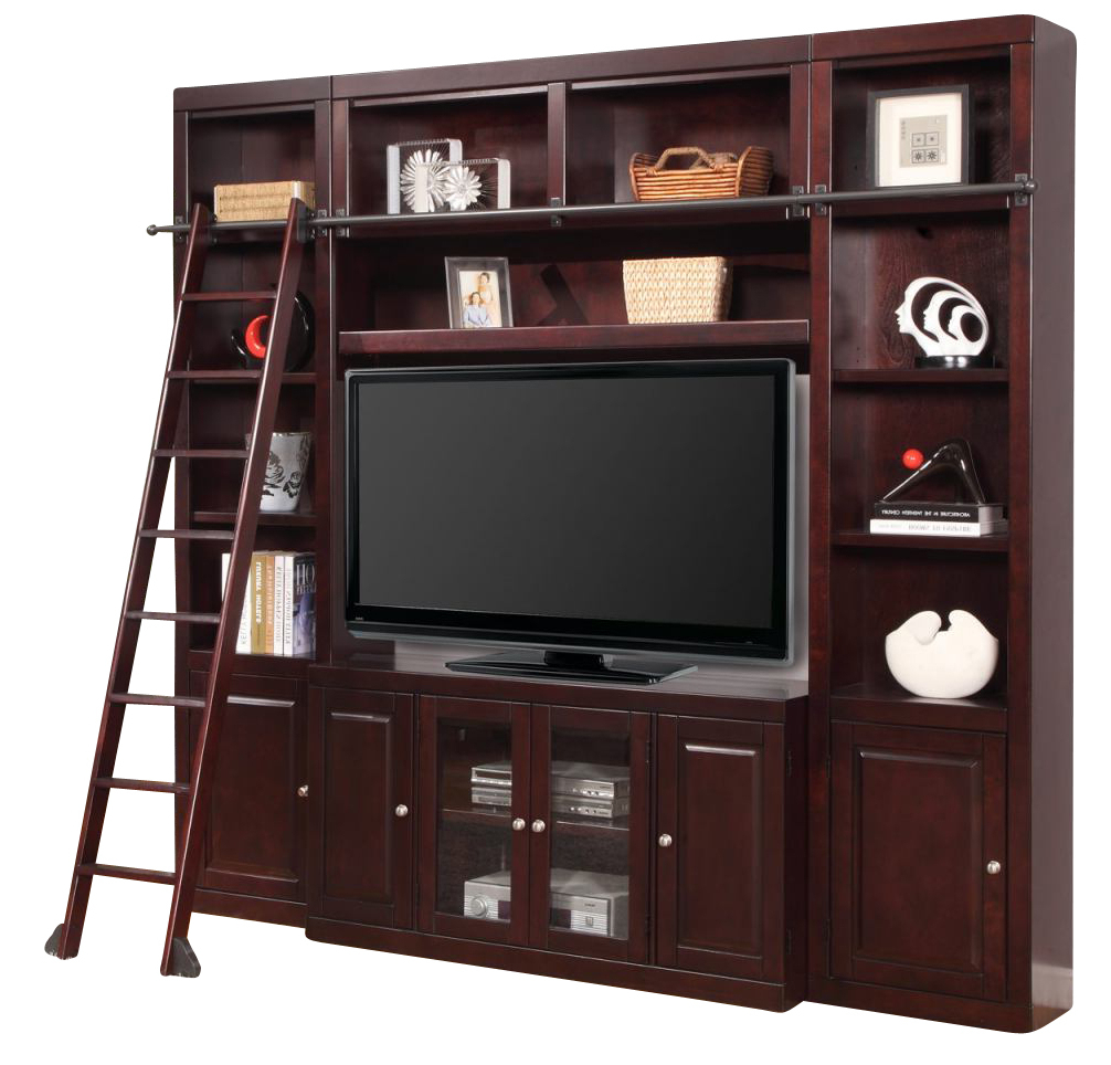 Parker House Boston 4 Piece Spacesaver Wall With Ladder In With Space Saving Gaming Storage Tv Stands (View 10 of 20)