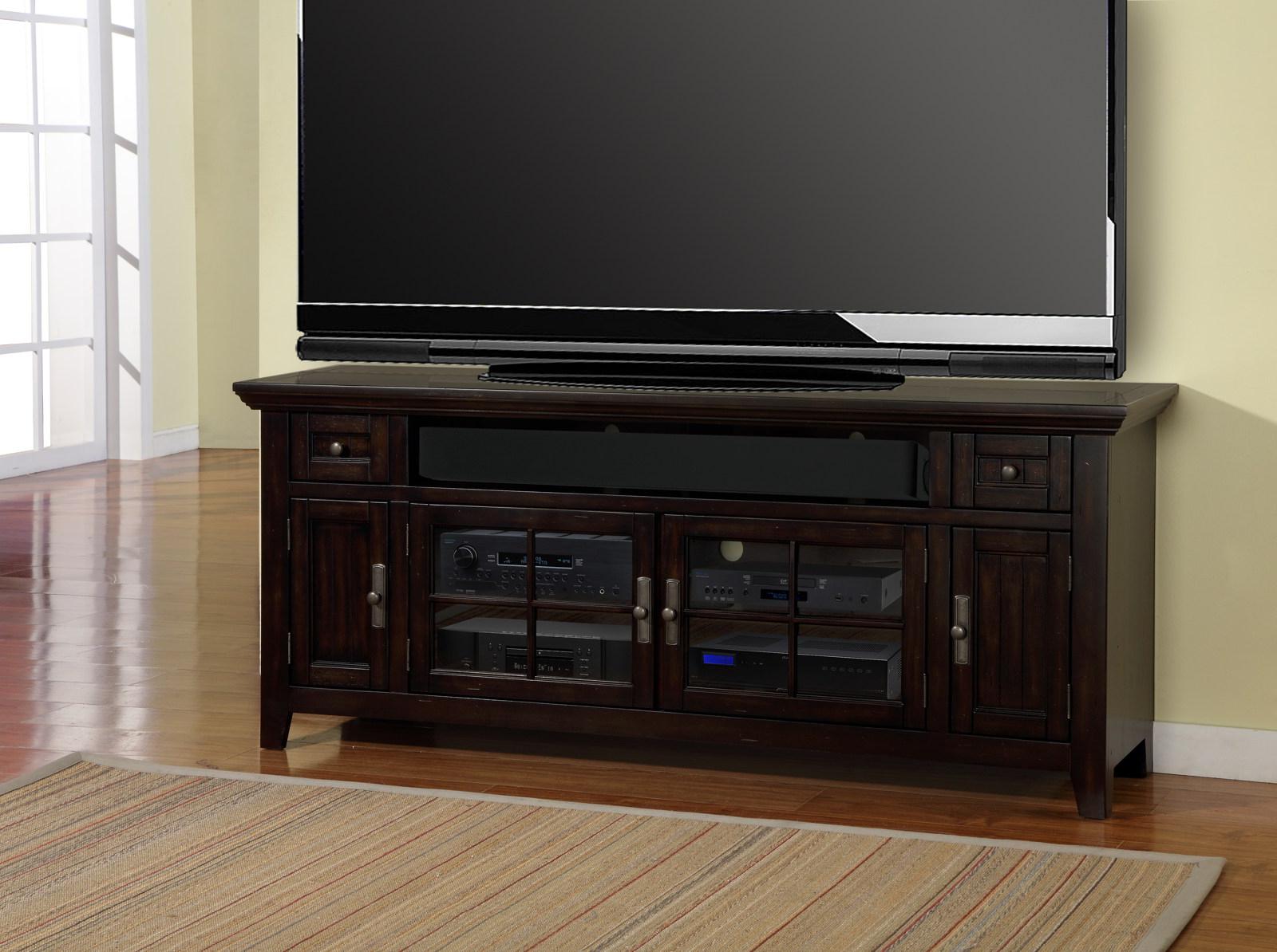 "Parker House Tahoe 72"" Tv Console In Vintage Black Tah#72 Regarding Jackson Corner Tv Stands (View 9 of 20)"