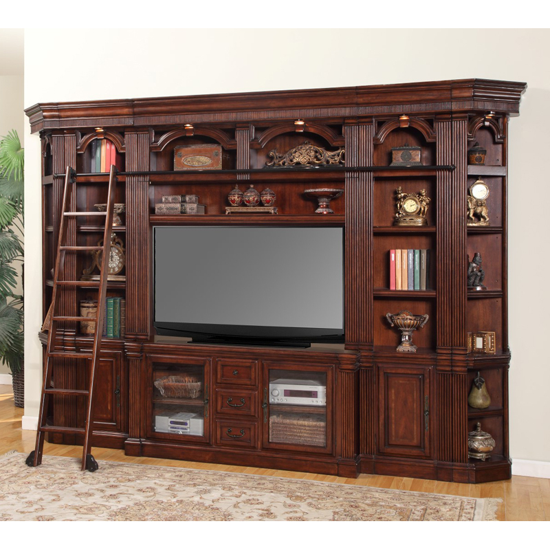 Parker House Wellington Large Space Saver Entertainment With Regard To Space Saving Gaming Storage Tv Stands (View 18 of 20)