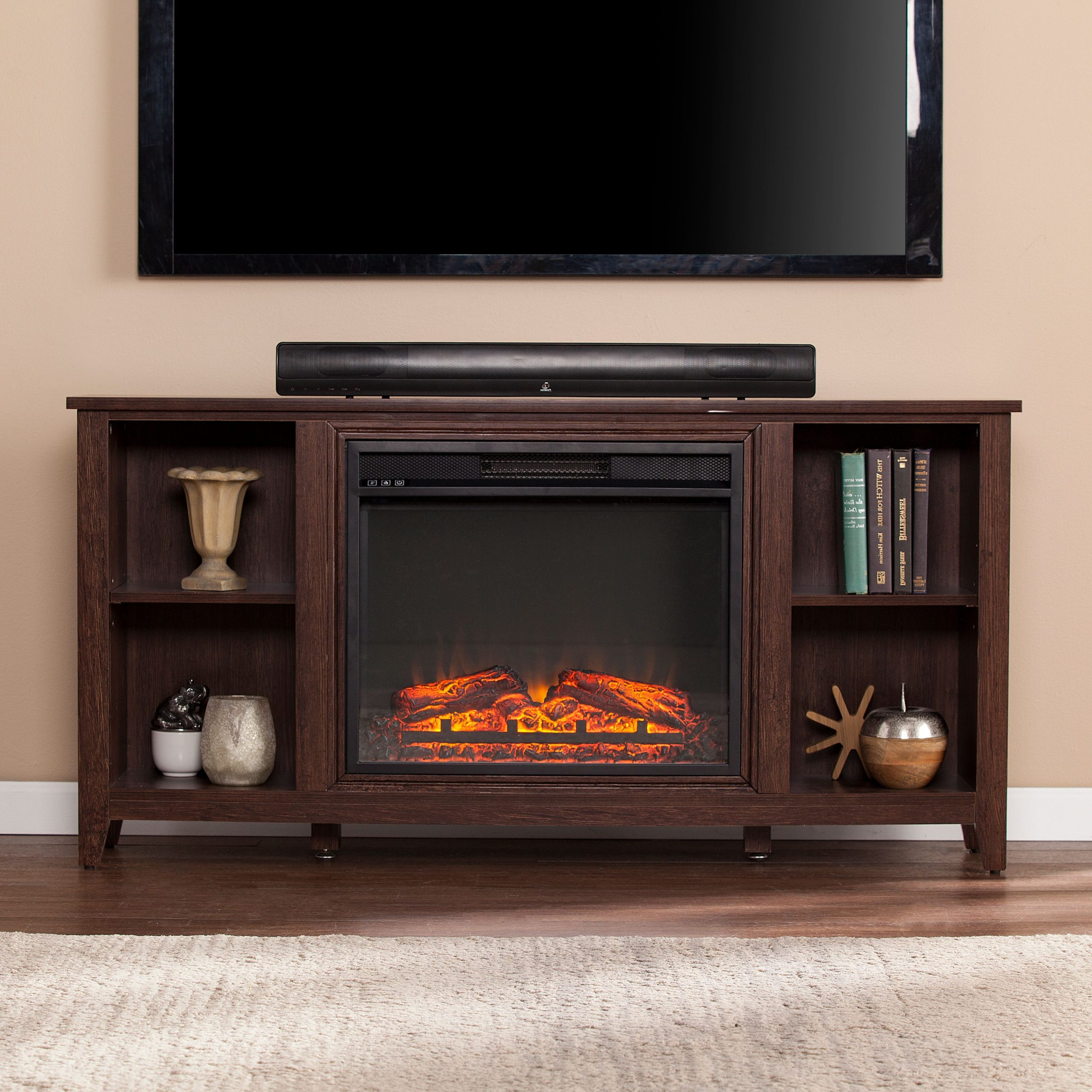 """Paxifyre Electric Fireplace Tv Stand, For Tv's Up To 50 With Regard To Colleen Tv Stands For Tvs Up To 50"""" (View 1 of 20)"""