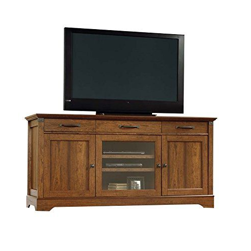 Pemberly Row Tv Stand In Washington Cherry   Sauder Inside Carson Tv Stands In Black And Cherry (View 3 of 20)