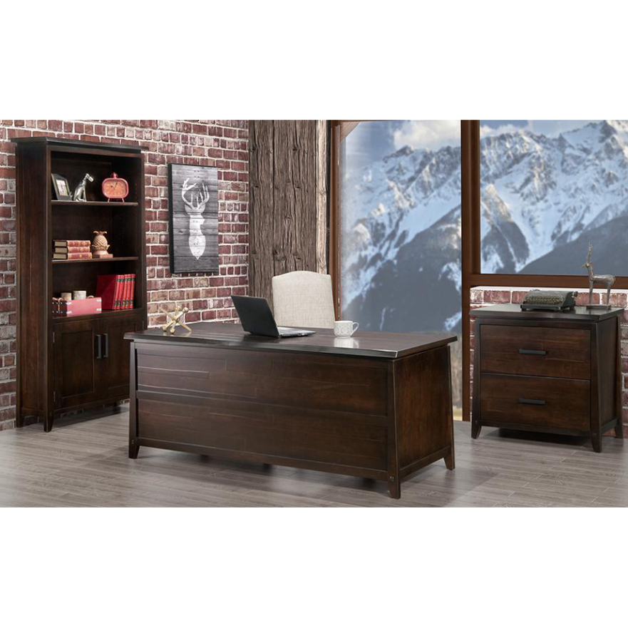 Pemberton Live Edge Desk – Rustic Wood Office Furniture I For Hanna Oyster Wide Tv Stands (View 2 of 20)