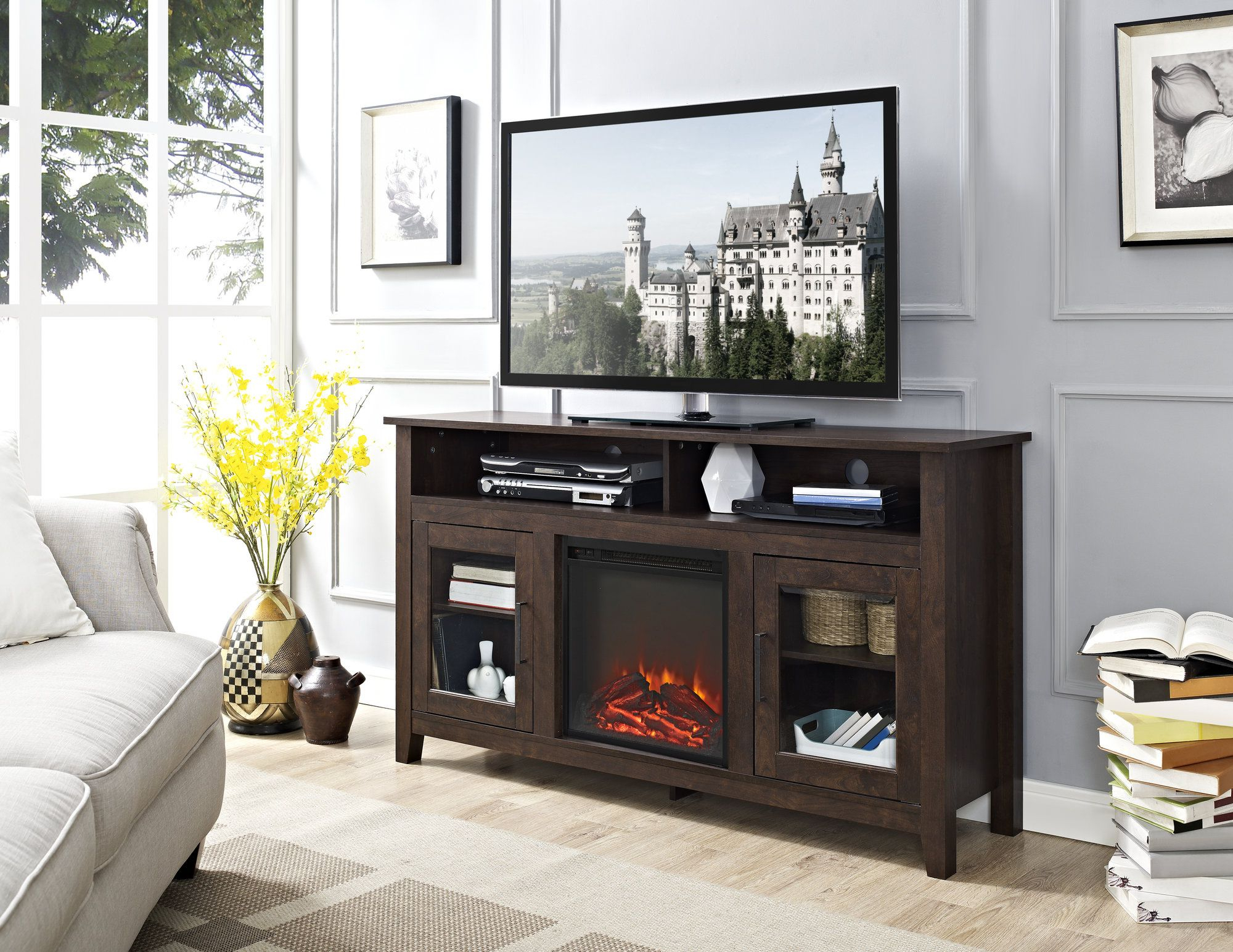 Pin On Decorating / Home Ideas With Regard To Woven Paths Barn Door Tv Stands In Multiple Finishes (View 10 of 20)