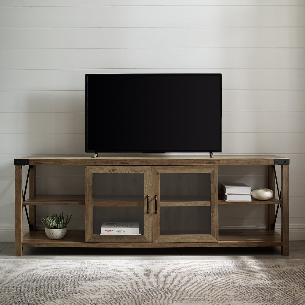 Pin On Decoration Ideas Within Woven Paths Franklin Grooved Two Door Tv Stands (View 6 of 20)