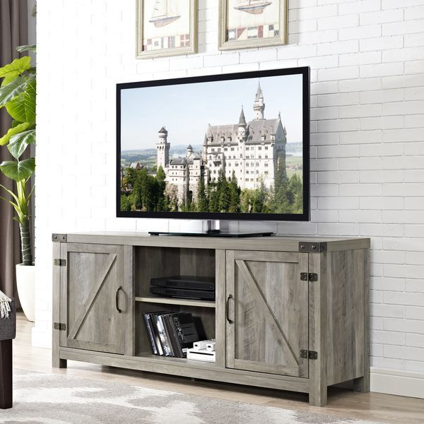 Pin On Farmhouse Modern For Woven Paths Franklin Grooved Two Door Tv Stands (View 2 of 20)