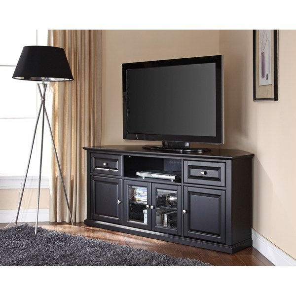 """Pin On Furniture With Vasari Corner Flat Panel Tv Stands For Tvs Up To 48"""" Black (View 10 of 20)"""