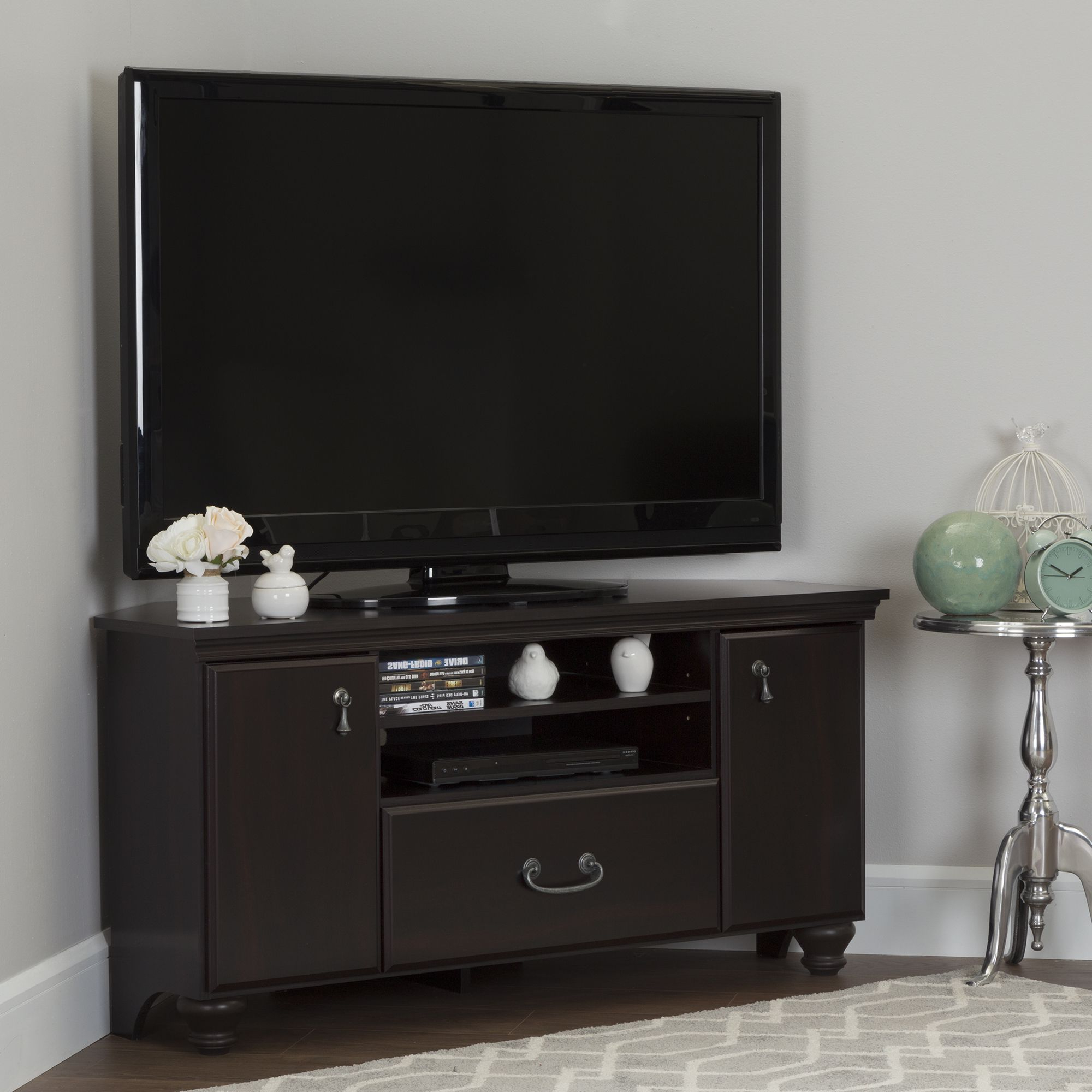 Pin On Home For Woven Paths Transitional Corner Tv Stands With Multiple Finishes (View 3 of 20)
