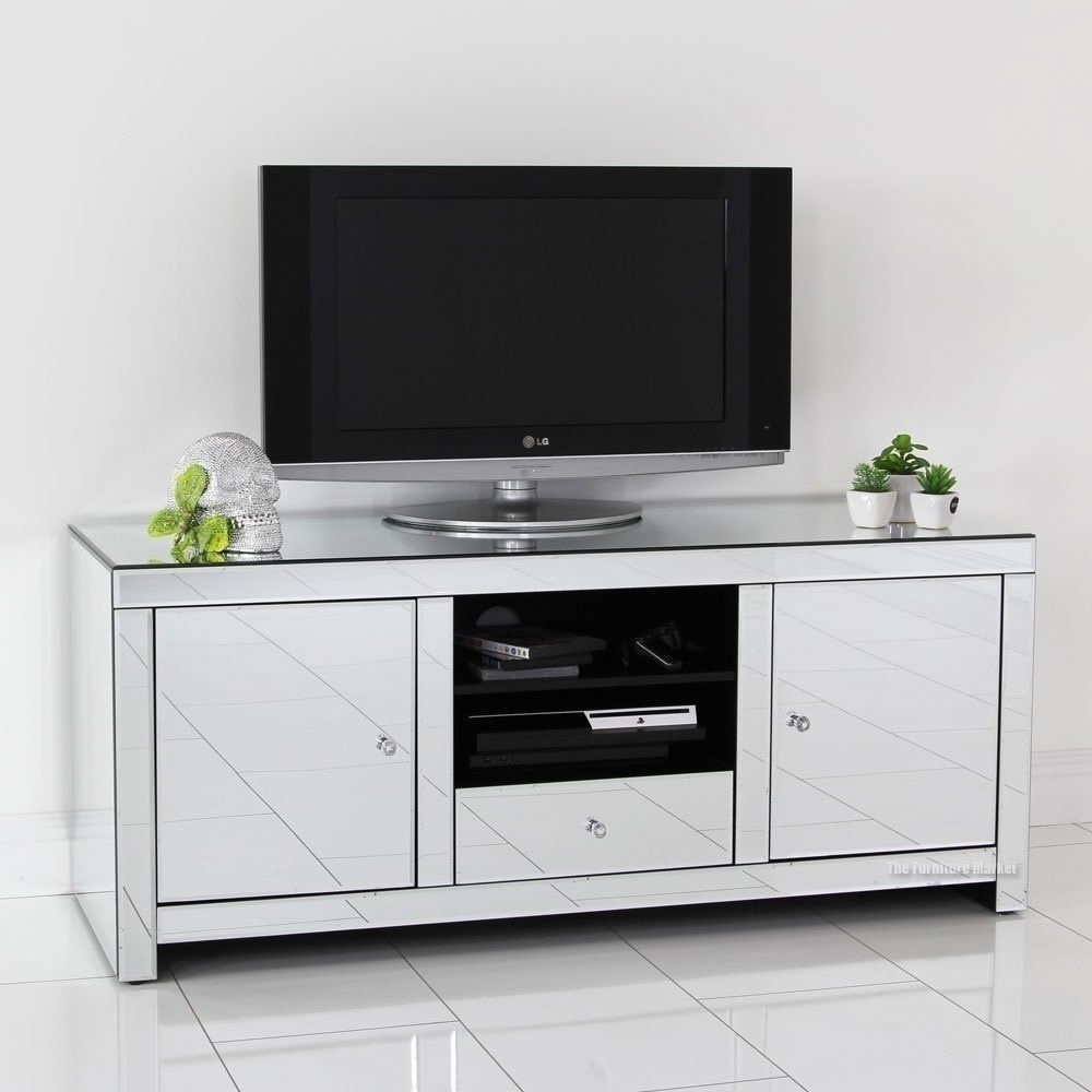 Pinali Ahmad On Mirrored Furniture   Living Room Tv Within Fitzgerald Mirrored Tv Stands (View 12 of 20)