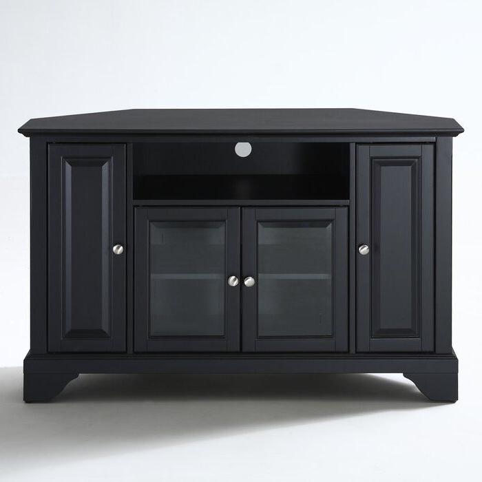 "Pindave On Living Room   Corner Tv Stand, Tv Stand Inside Vasari Corner Flat Panel Tv Stands For Tvs Up To 48"" Black (View 14 of 20)"