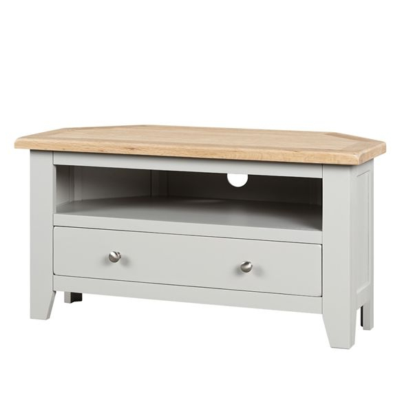 Pinsophie Gillies On Tv Cabinet   Corner Tv Unit In Bromley Oak Corner Tv Stands (View 3 of 20)