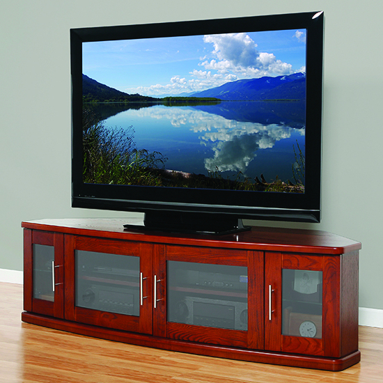 """Plateau Newport62w Corner Tv Stand Up To 70"""" Tvs In Walnut Pertaining To Broward Tv Stands For Tvs Up To 70"""" (View 6 of 20)"""