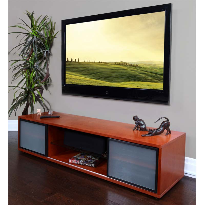 Plateau Sr Series Retro Hardwood Tv Stand With Glass Doors Pertaining To Owen Retro Tv Unit Stands (View 4 of 20)