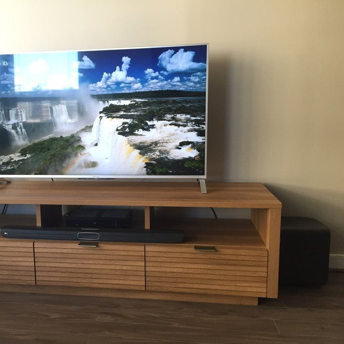 """Posner Tv Stand For Tvs Up To 70"""" 