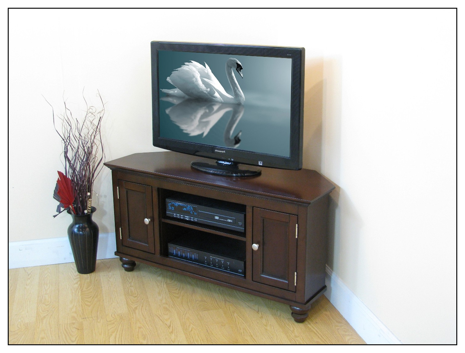 """Premier Rta Simple Connect Middleton Corner Tv Stand For Pertaining To Camden Corner Tv Stands For Tvs Up To 50"""" (View 9 of 20)"""