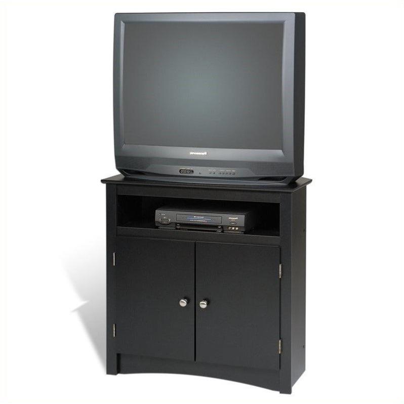 "Prepac Sonoma 32"" Tall Corner Tv Stand In Black – Btv 3232 With Regard To Samira Corner Tv Unit Stands (View 14 of 20)"