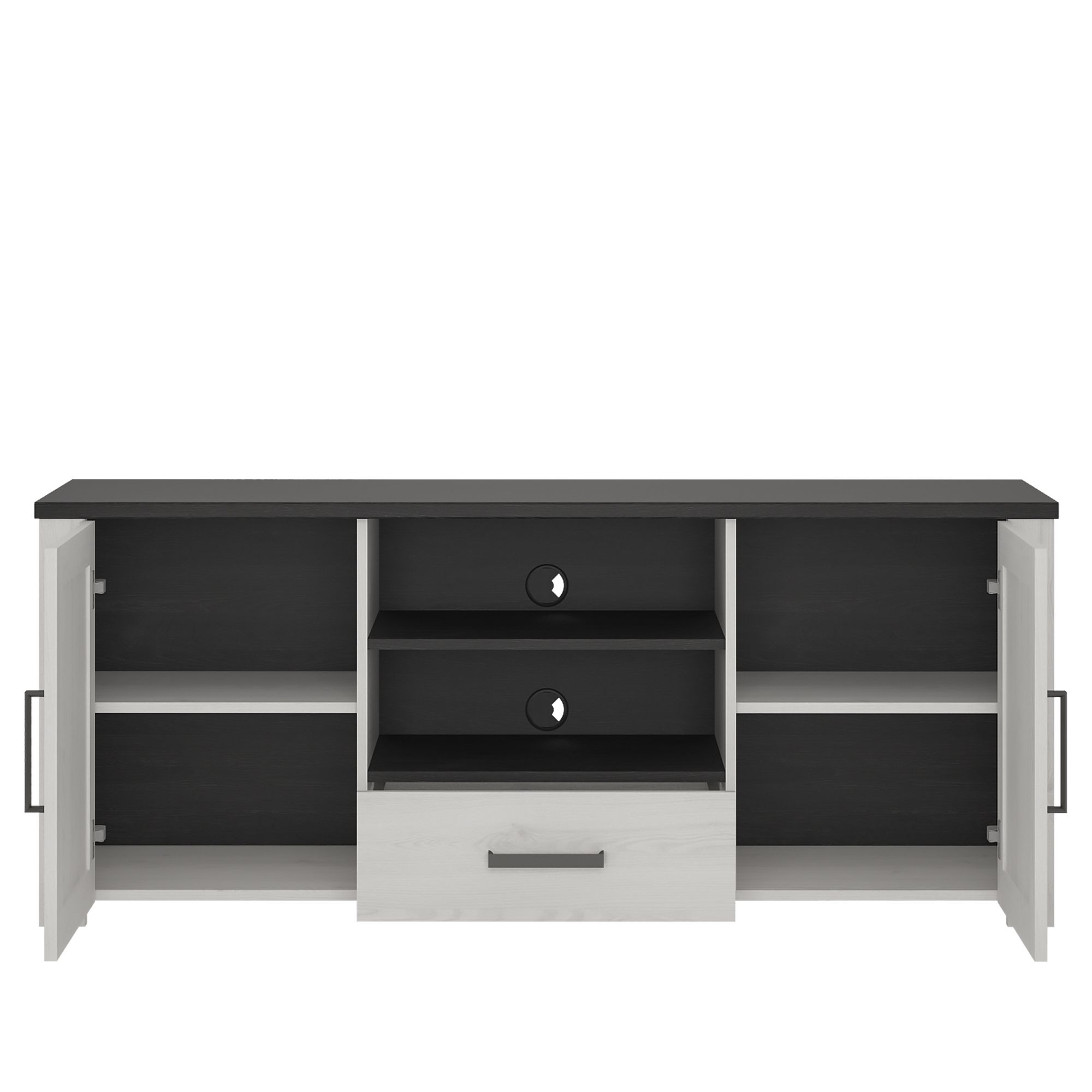 Provence High Tv Cabinet 2 Door 1 Drawer Intended For Tiva Ladder Tv Stands (View 4 of 11)