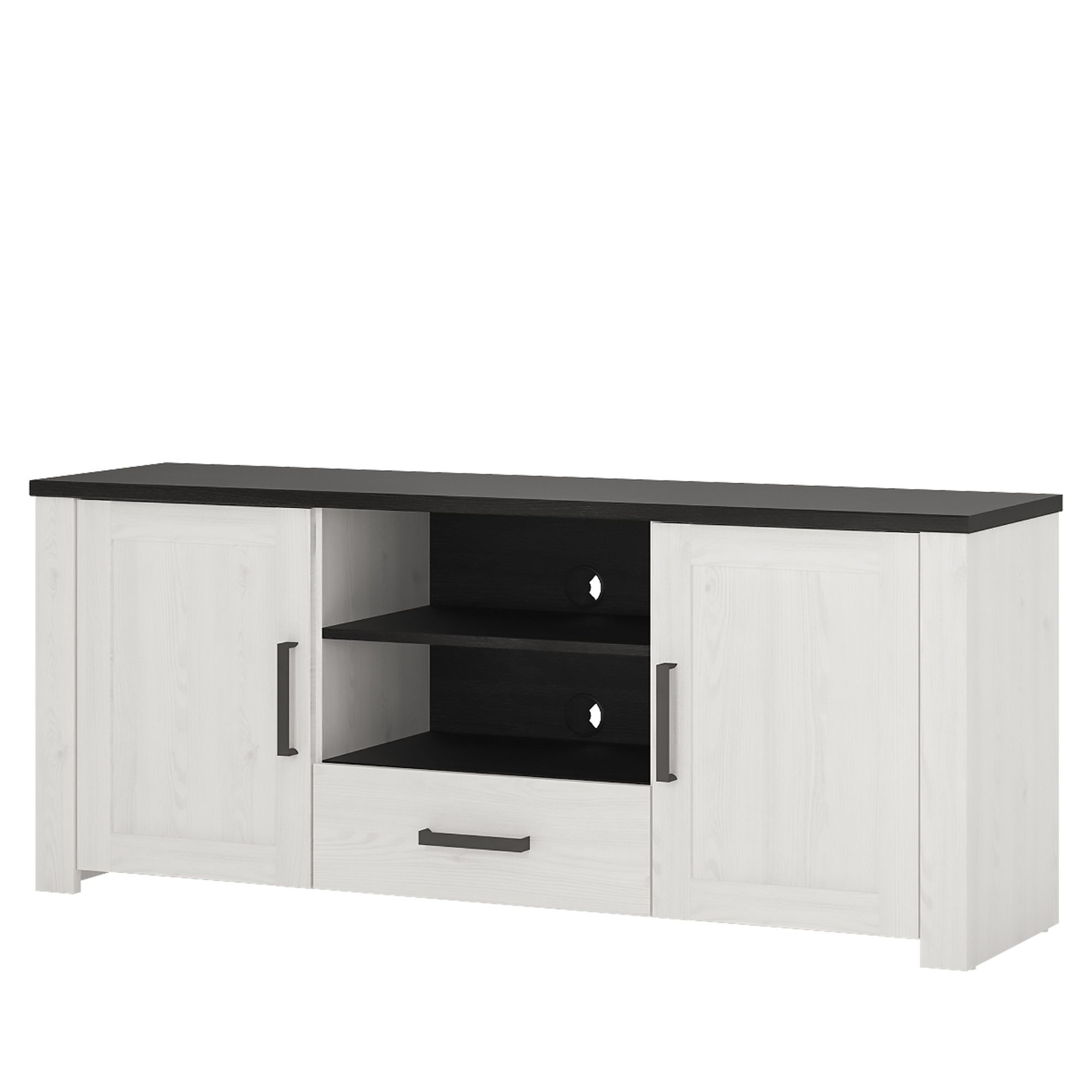 Provence High Tv Cabinet 2 Door 1 Drawer With Regard To Tiva Ladder Tv Stands (View 5 of 11)