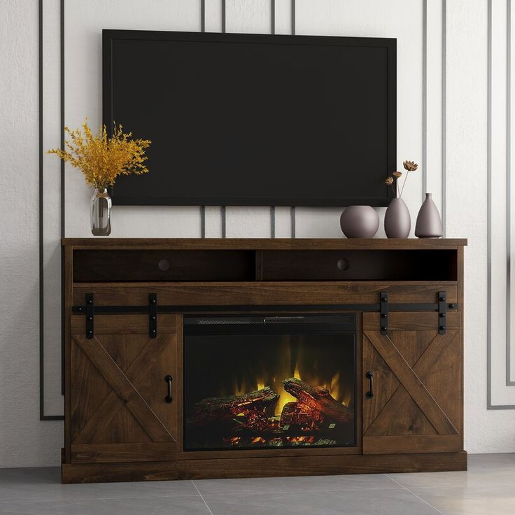 """Pullman Tv Stand For Tvs Up To 65"""" With Electric Fireplace For Totally Tv Stands For Tvs Up To 65"""" (View 17 of 20)"""