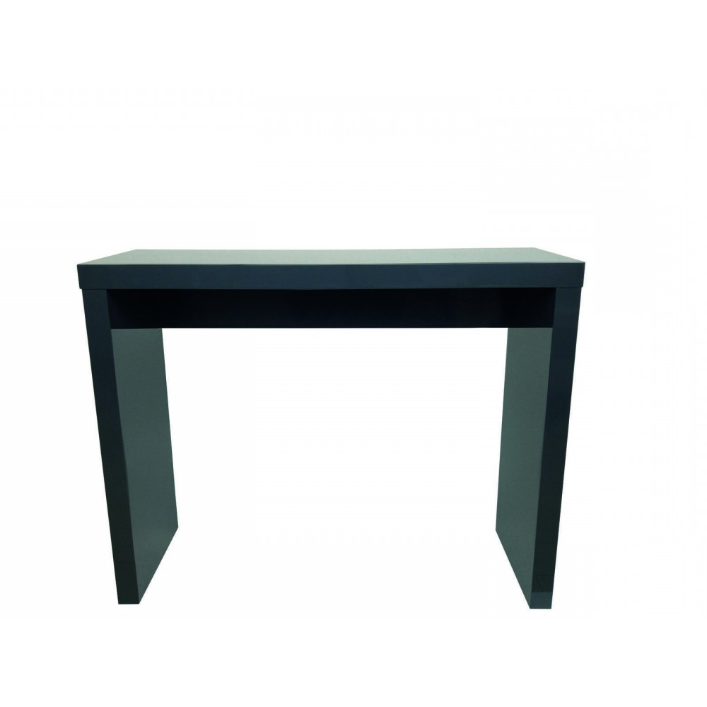 Puro High Gloss Charcoal Console Table Intended For Puro White Tv Stands (View 10 of 20)