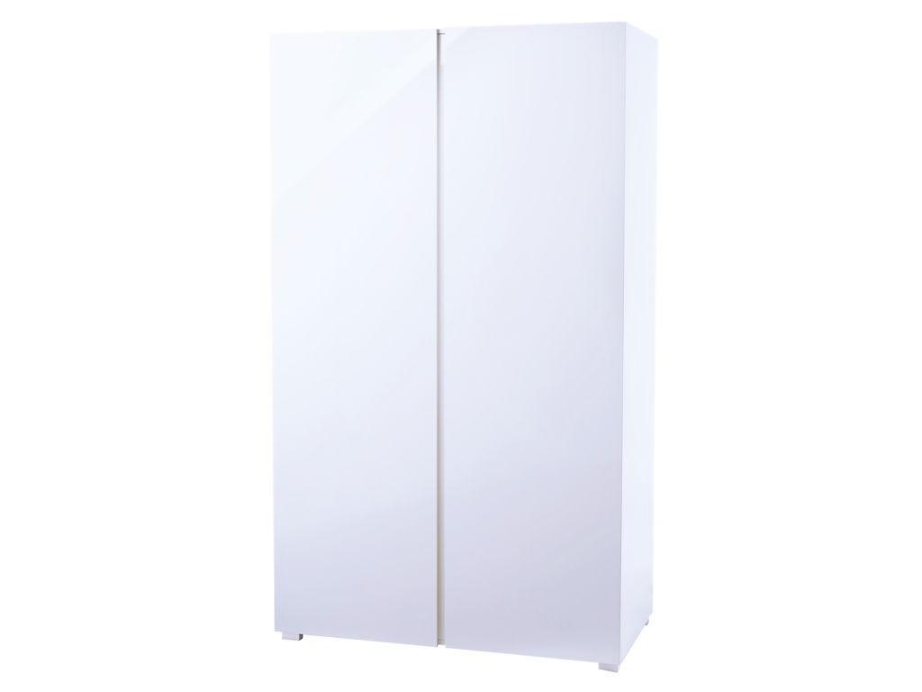Puro White High Gloss 2 Door Wardrobe Regarding Puro White Tv Stands (View 8 of 20)
