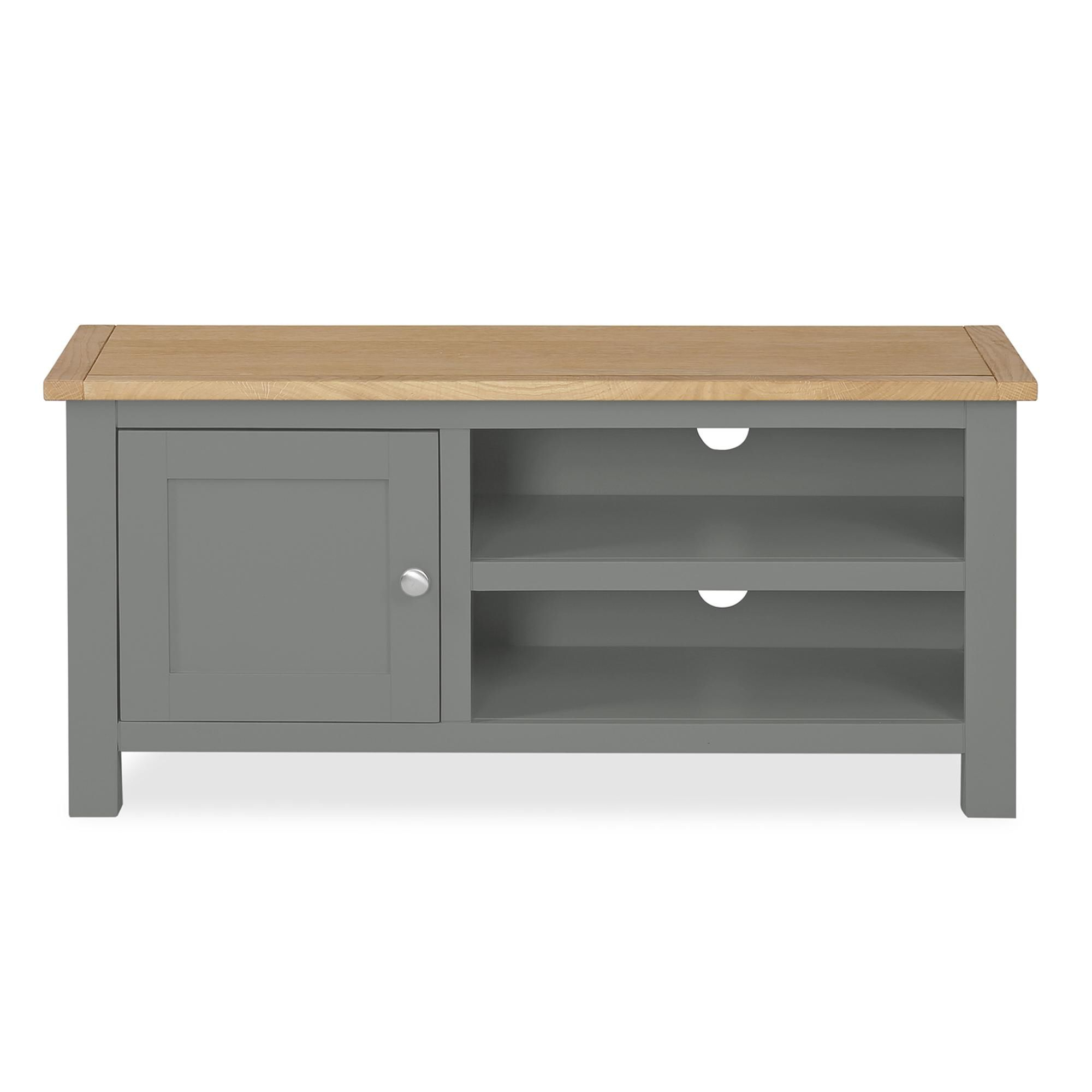 Ready Assembled Grey Living Room Furniture – Dlivingroomku Pertaining To Bromley Slate Corner Tv Stands (View 2 of 20)