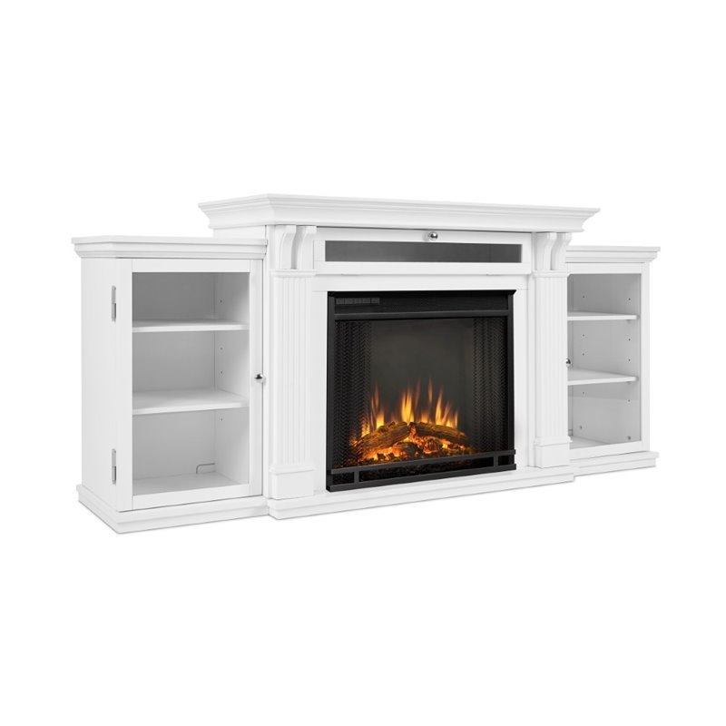 """Real Flame Calie Tv Stand With Electric Fireplace In White Intended For Casey May Tv Stands For Tvs Up To 70"""" (View 13 of 20)"""