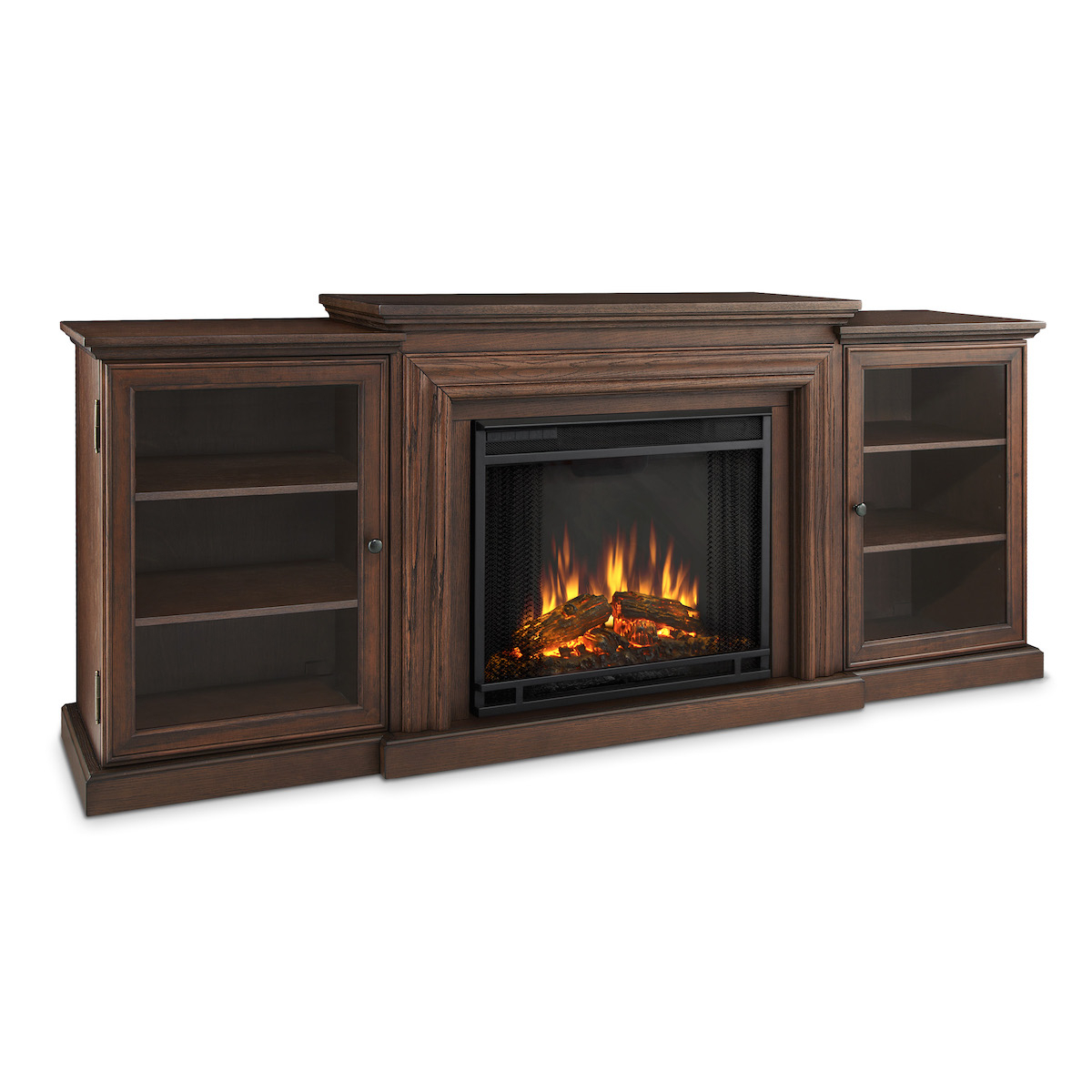 Real Flame Frederick Entertainment Center Electric Throughout Electric Fireplace Tv Stands With Shelf (View 18 of 20)