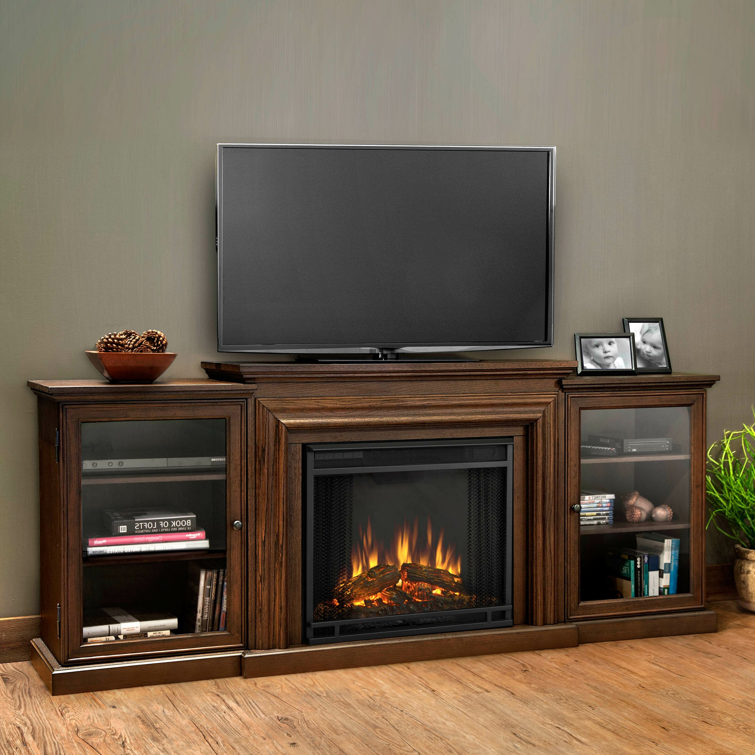 Real Flame Frederick Tv Stand With Electric Fireplace Inside Electric Fireplace Tv Stands With Shelf (View 4 of 20)