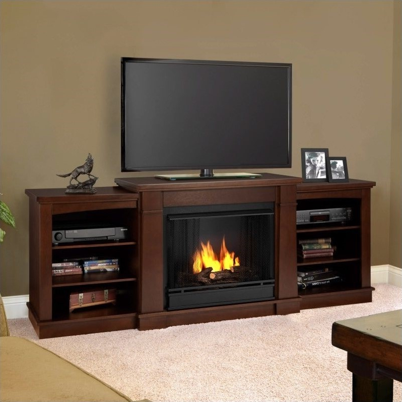 Real Flame Hawthorne Gel Fireplace Tv Stand In Dark For Electric Fireplace Tv Stands With Shelf (View 11 of 20)