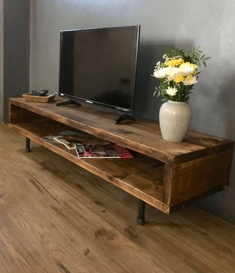 Reclaimed Wood Tv Stand/cabinet 37cm High   Etsy With Owen Retro Tv Unit Stands (View 12 of 20)