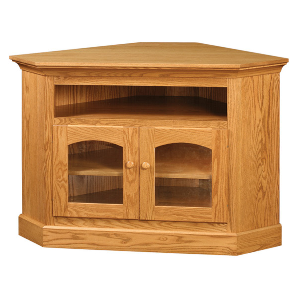 Red Oak Corner Tv Stand | Corner Tv Stands | Barn Furniture With Lucy Cane Cream Corner Tv Stands (View 9 of 20)