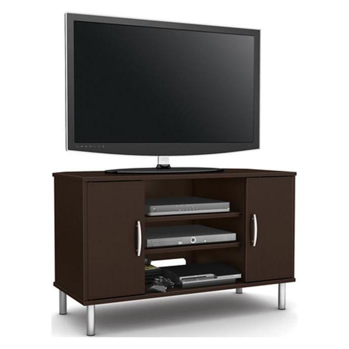 Renta Corner Tv Stand In Chocolate   Nebraska Furniture Throughout Naples Corner Tv Stands (View 6 of 20)