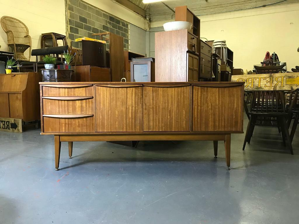Retro Sideboard Vintage Chest Of Drawers Tv Unit Stand With Owen Retro Tv Unit Stands (View 7 of 20)