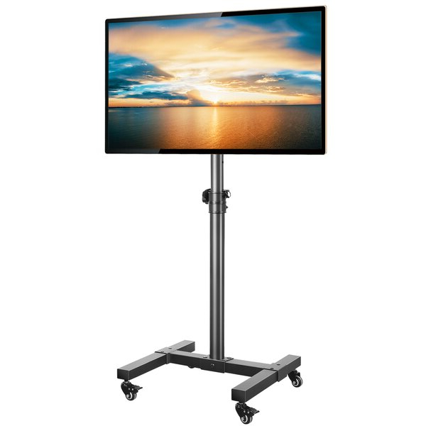 Rfiver Mobile Tv Cart/stand For 13 42 Inch Flat Screen Or Intended For Rolling Tv Cart Mobile Tv Stands With Lockable Wheels (View 1 of 20)