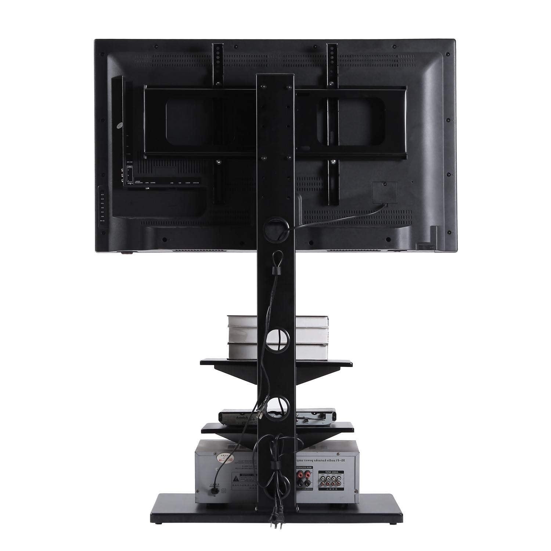 Rfiver Swivel 3 Tiers Floor Tv Stand Height Adjustable 32 Regarding Swivel Floor Tv Stands Height Adjustable (View 10 of 20)