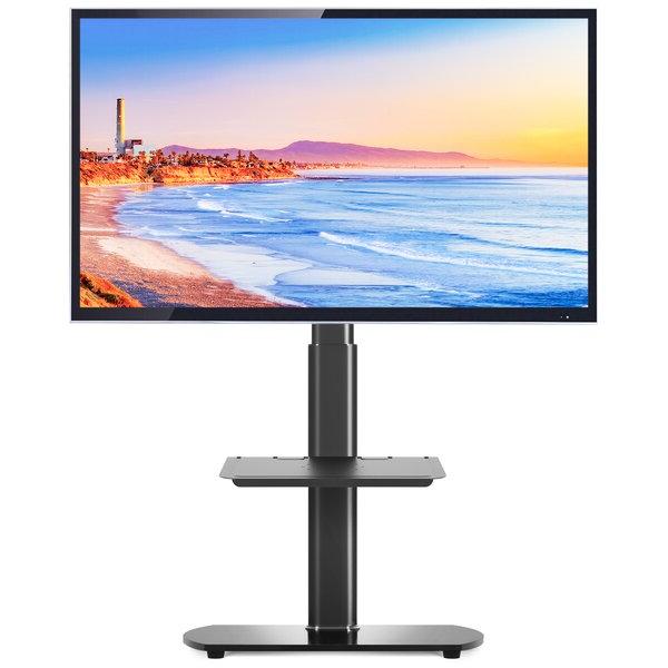 Rfiver Universal Tv Floor Stand With Swivel Mount Height Regarding Swivel Floor Tv Stands Height Adjustable (View 11 of 20)