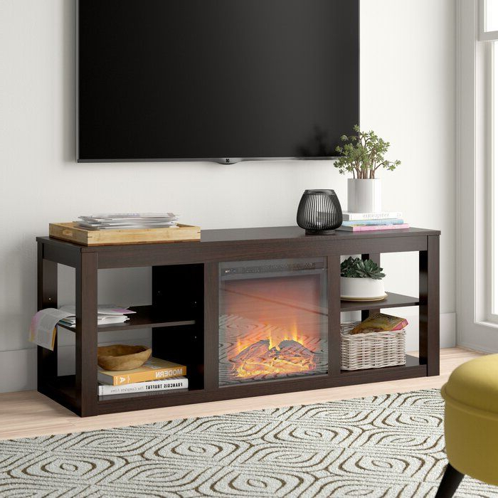 """Rickard Tv Stand For Tvs Up To 65"""" With Fireplace Included Inside Kasen Tv Stands For Tvs Up To 60"""" (View 13 of 20)"""