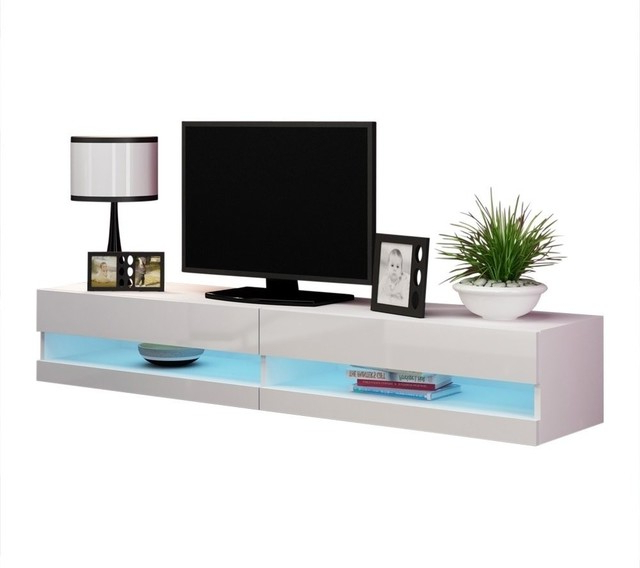 """Rigo New Tv Stand – Contemporary – Entertainment Centers With Milano 200 Wall Mounted Floating Led 79"""" Tv Stands (View 11 of 20)"""